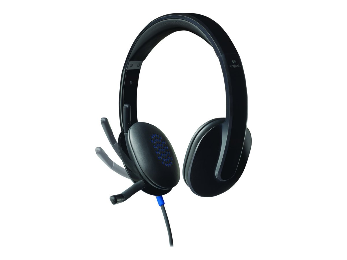Logitech - H540 Wired Over-the-head Stereo Headset