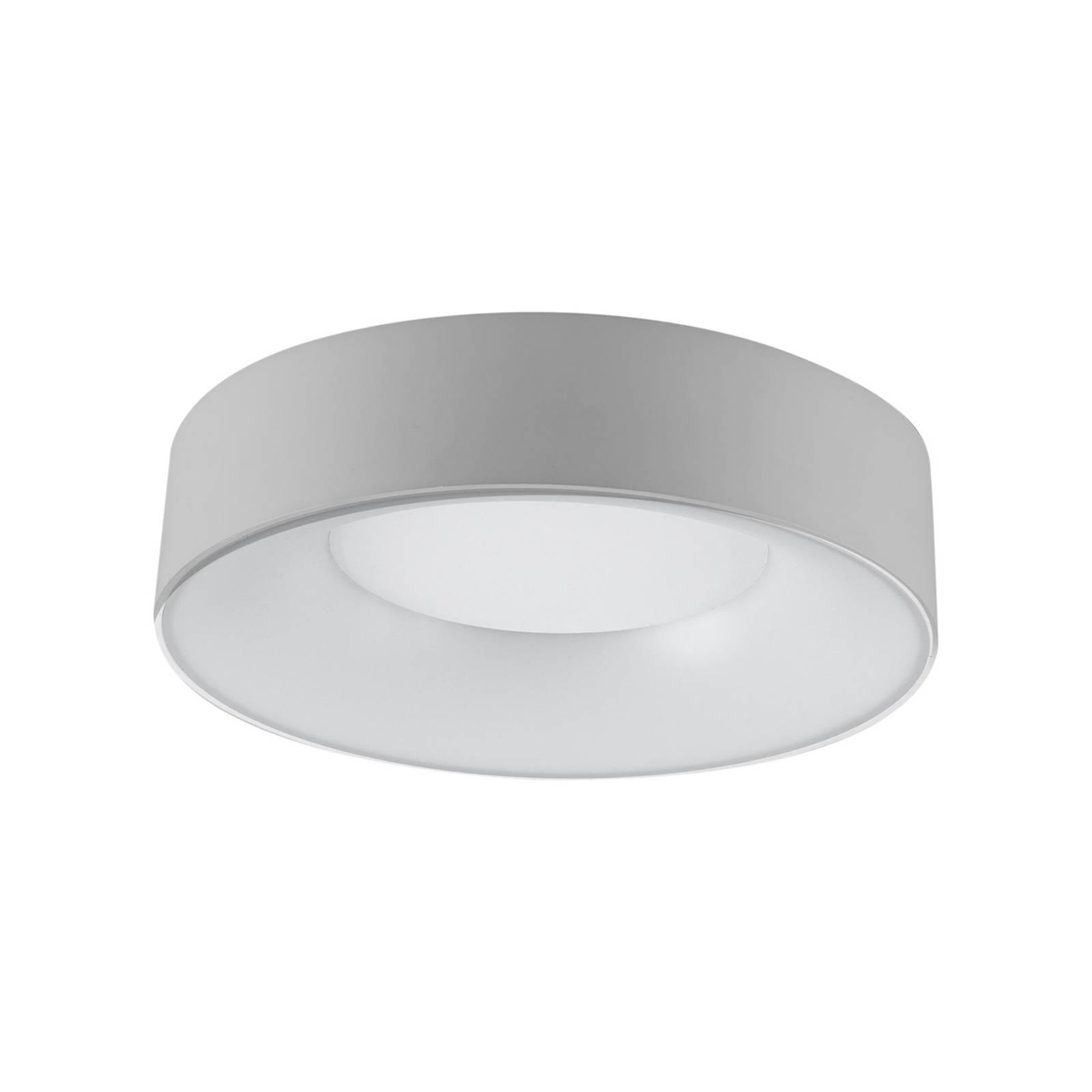 LED-kattovalaisin R30, Ø 30 cm, hopea