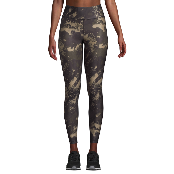 Printed Sport Tights, Boost Green
