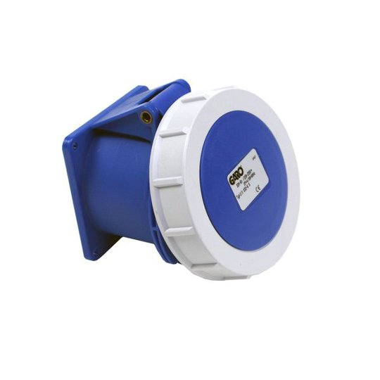 Garo UIV 232-6 S Paneelin ulostulo IP67, 3-napainen, 32A Sininen, 6 h