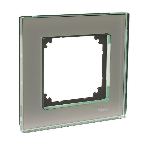 Schneider Electric Exxact Solid Yhdistelmäkehys lasi, titaani 1-paikkainen