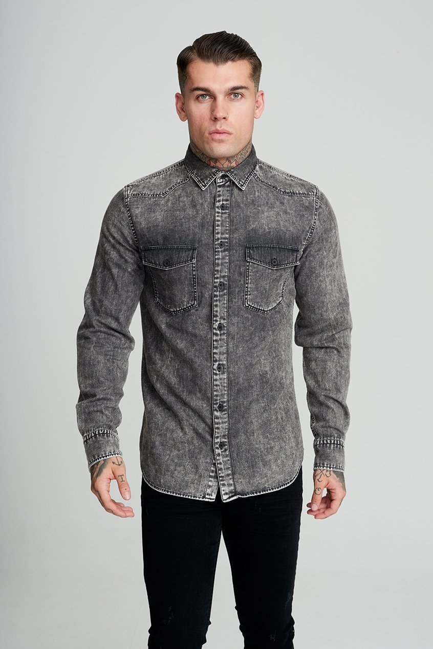 Becks Denim Men's Shirt - Black, Small