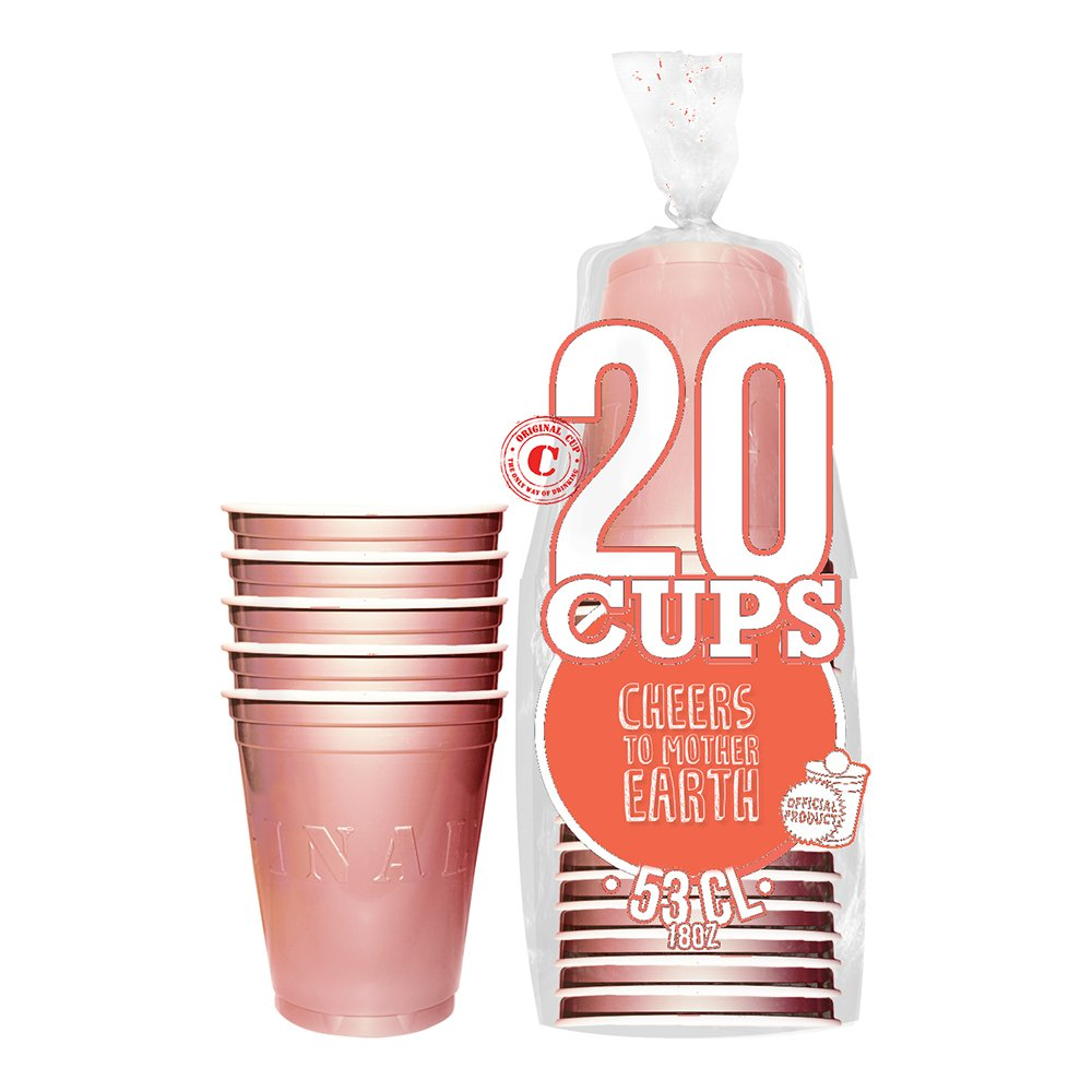 Partycups Roséguld - 20-pack