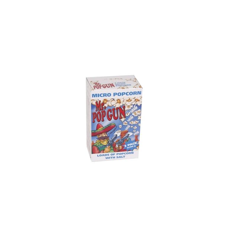 Mr. Pop Gun Micropopcorn Salt 3 x 100 gram