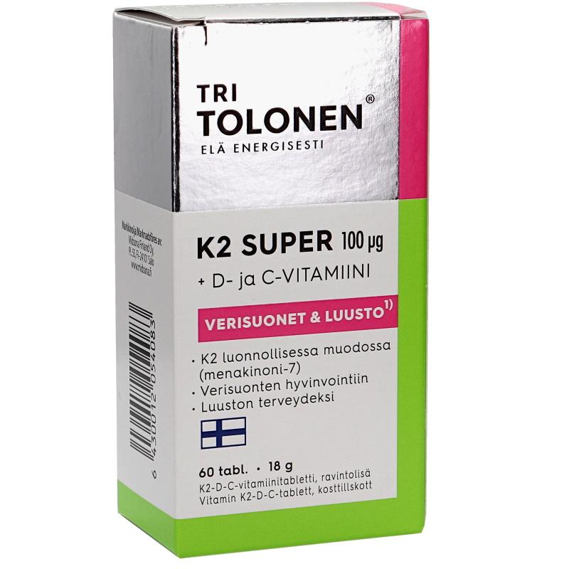Ravintolisä Vitamiinitabletti K2,D,C - 58% alennus