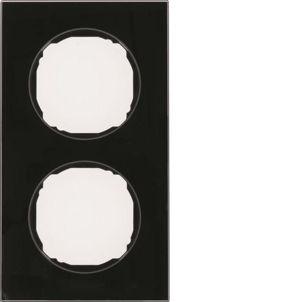 Hager 10122616 Peitekehys R.8, lasi, musta 2-paikkainen