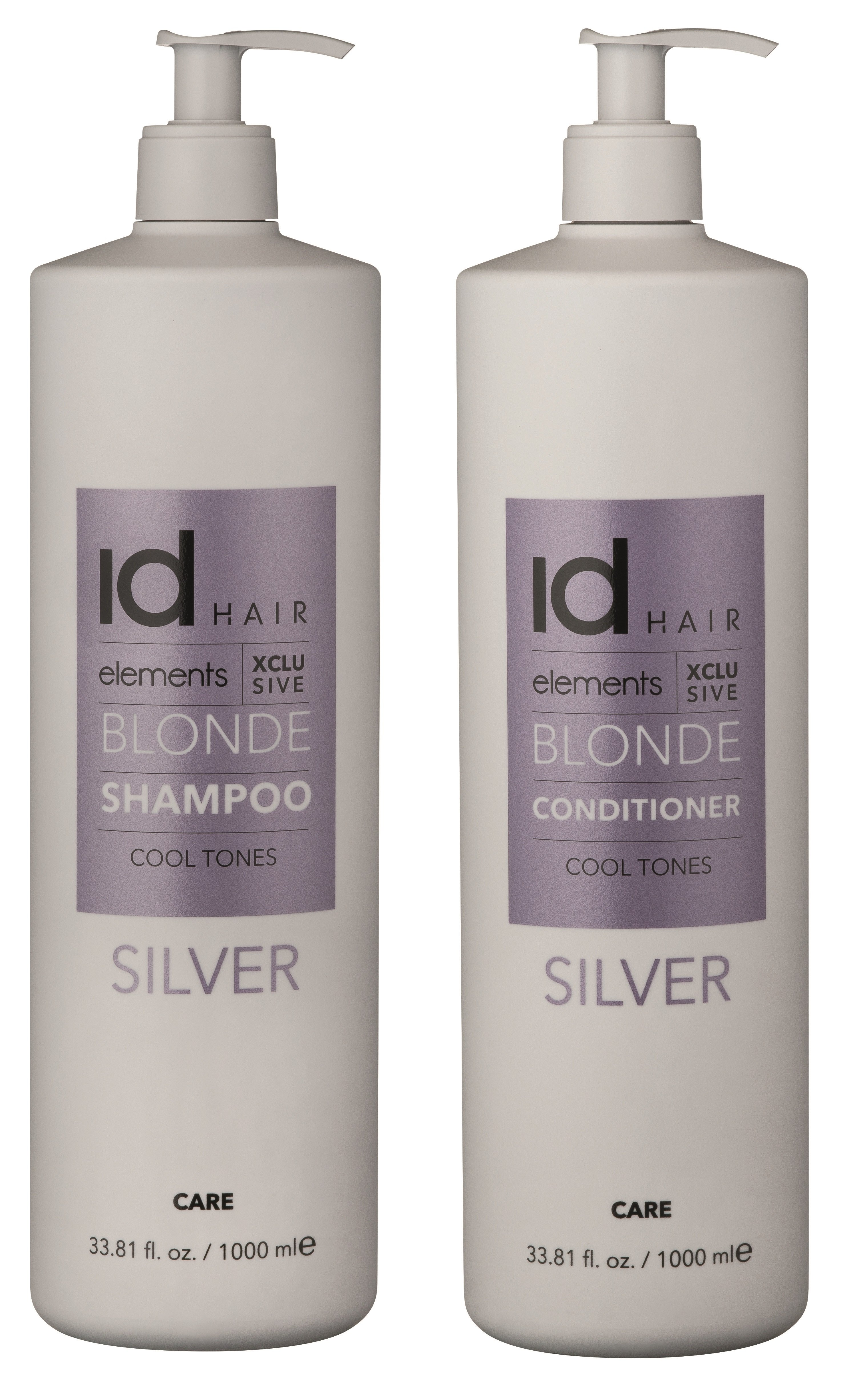 IdHAIR - Elements Xclusive Silver Shampoo 1000 ml + Conditioner 1000 ml