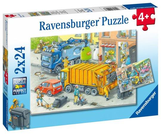 Ravensburger Puslespill Arbeidsbiler 2x24 Brikker