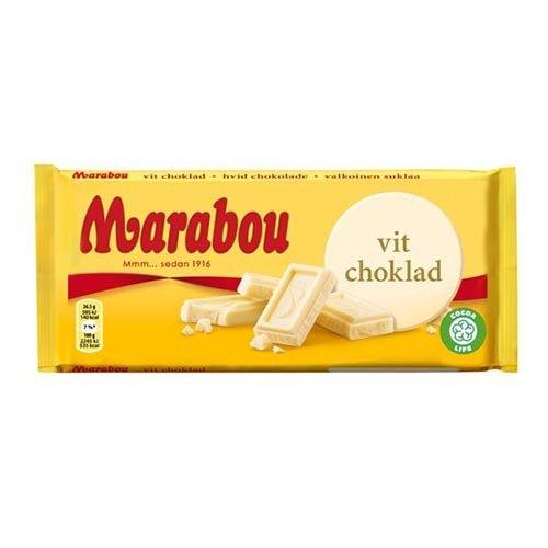 Marabou Vit Chokladkaka - 185 gram