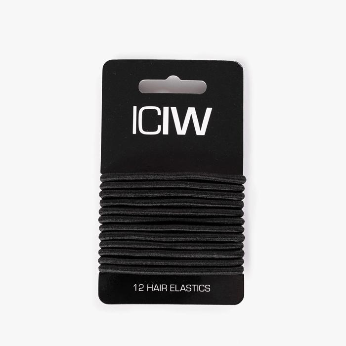 ICIW 12-Pack Sport Hair Ties, Black