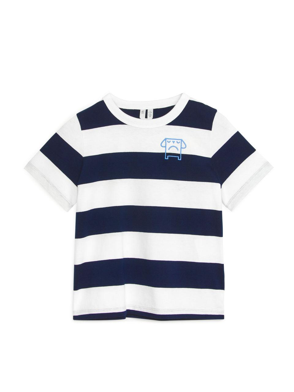 Block-Striped T-Shirt - Blue