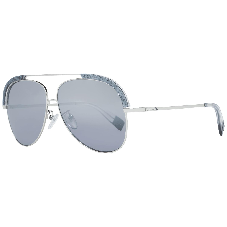 Furla Women's Sunglasses Silver SFU284 60579X