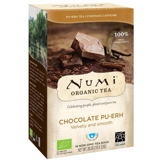 Numi Organic Tea Chocolate Pu·erh, 16 påsar