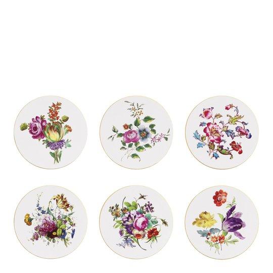 & klevering - Floral Glasunderlägg Kork 6-pack