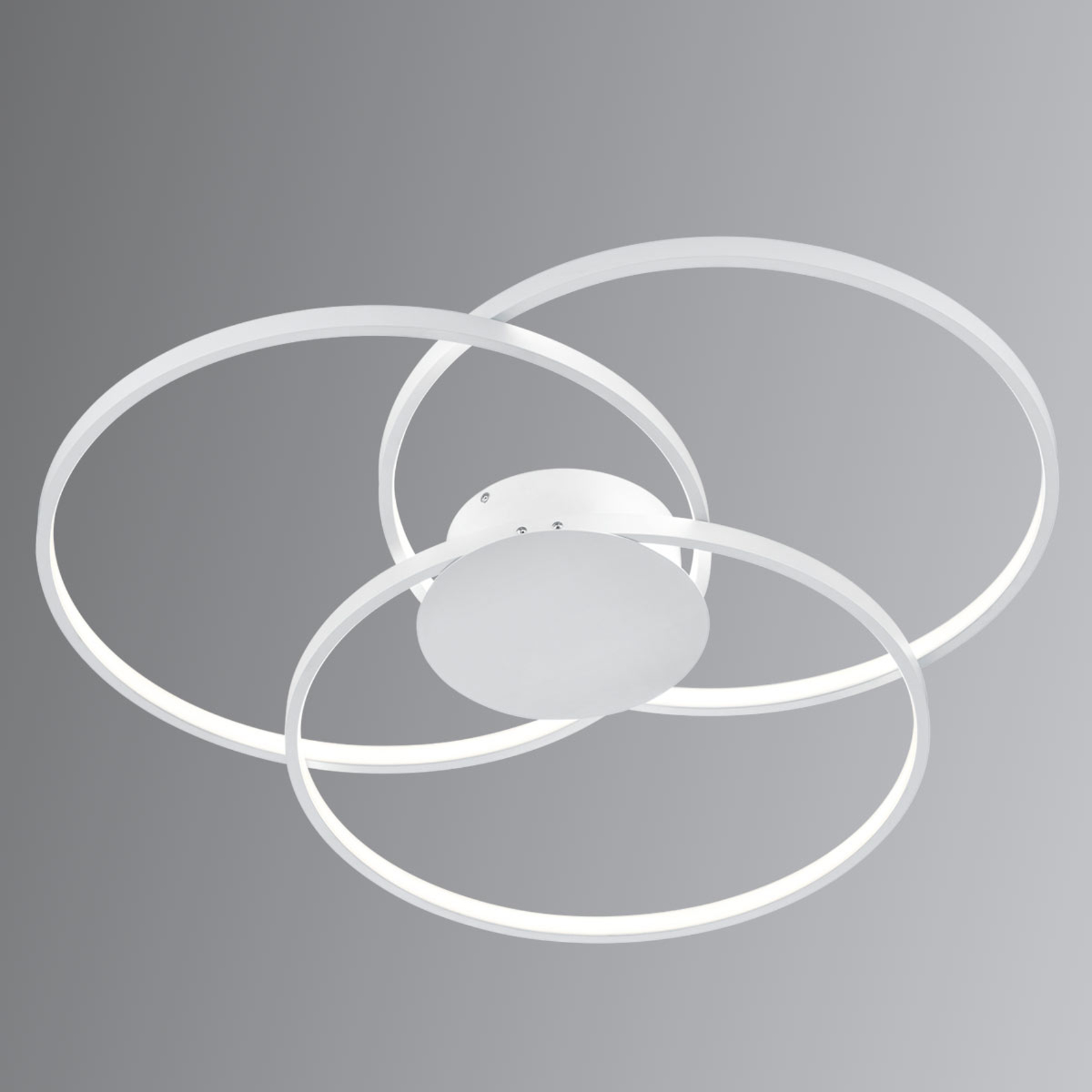 Valkoinen LED-kattolamppu Sedona kytkin-himmennin