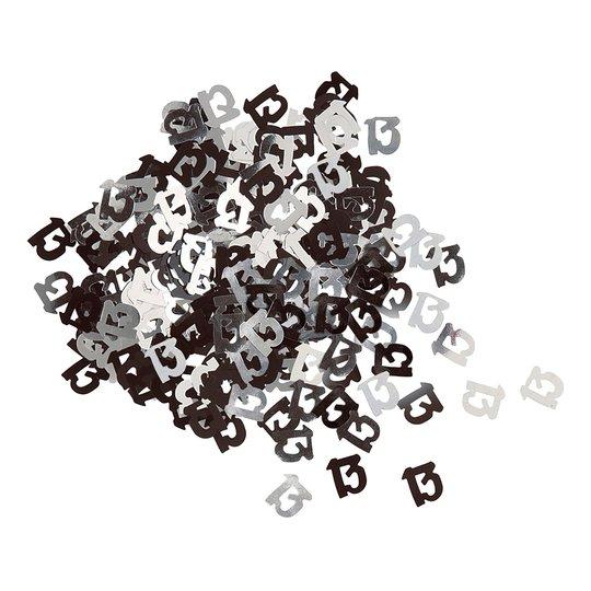 Konfetti Svart/Silver 13 - 14 gram