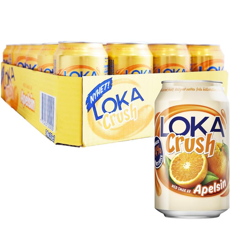 """Hel Platta Loka """"Crush"""" Apelsin 24 x 33cl - 40% rabatt"""