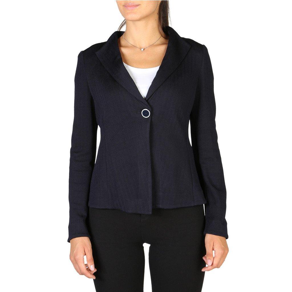 Emporio Armani Women's Blazer Blue 3Z2G6N2JAAZ - blue 44 EU