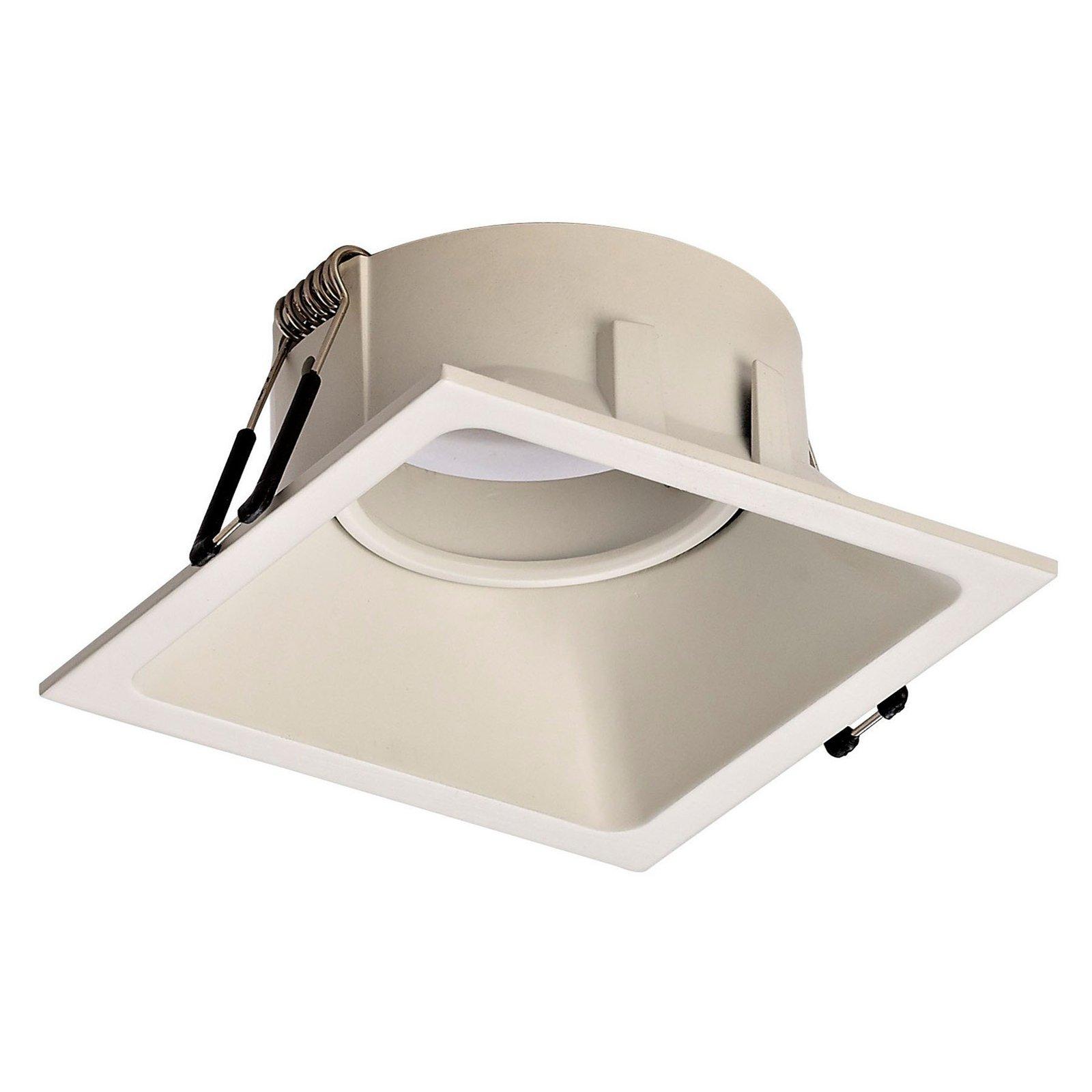 Comfort innfellingslampe, kantet, matt hvit
