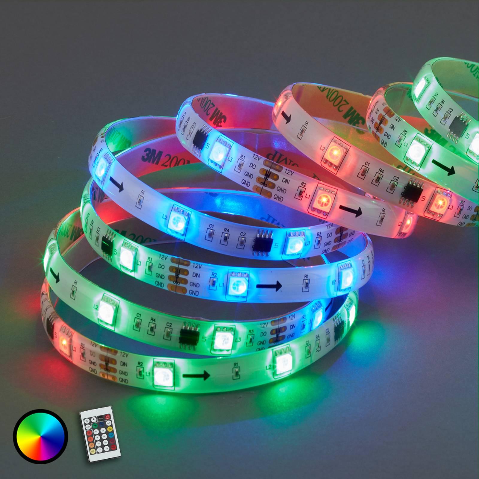 Mo-RGB-LED-valonauha 164 valotoiminnolla, 500 cm