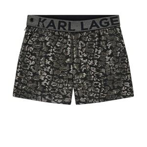 Karl Lagerfeld Kids Jacquard Shorts Silver 8 år