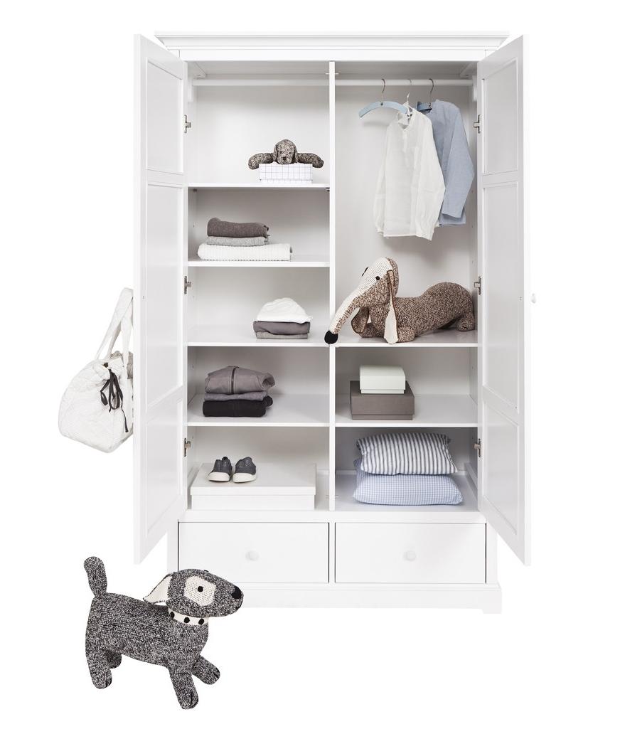 Barngarderob två dörrar H195 cm, Oliver Furniture