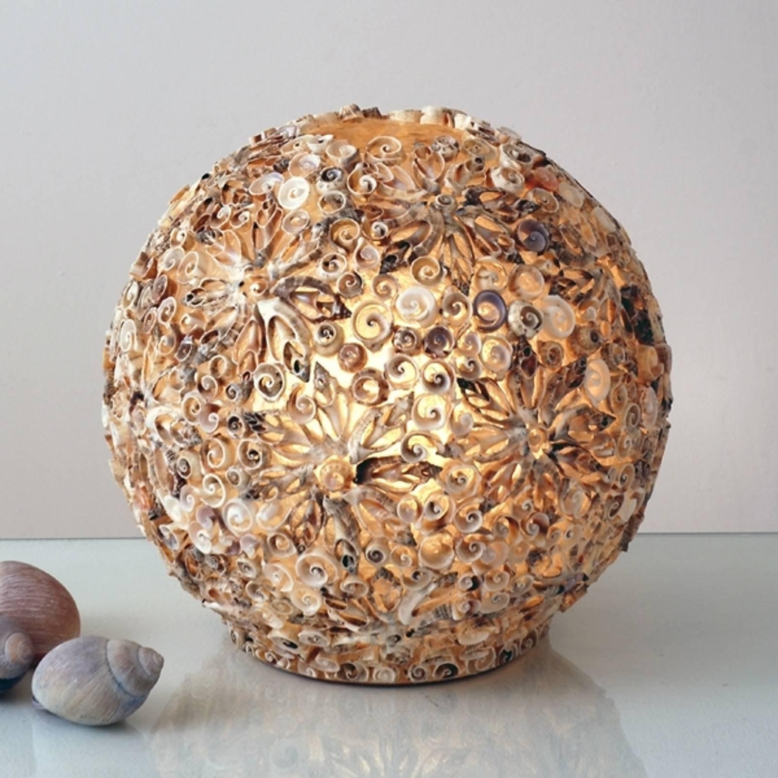 Dekorativ gulvlampe Skjellball, 30 cm