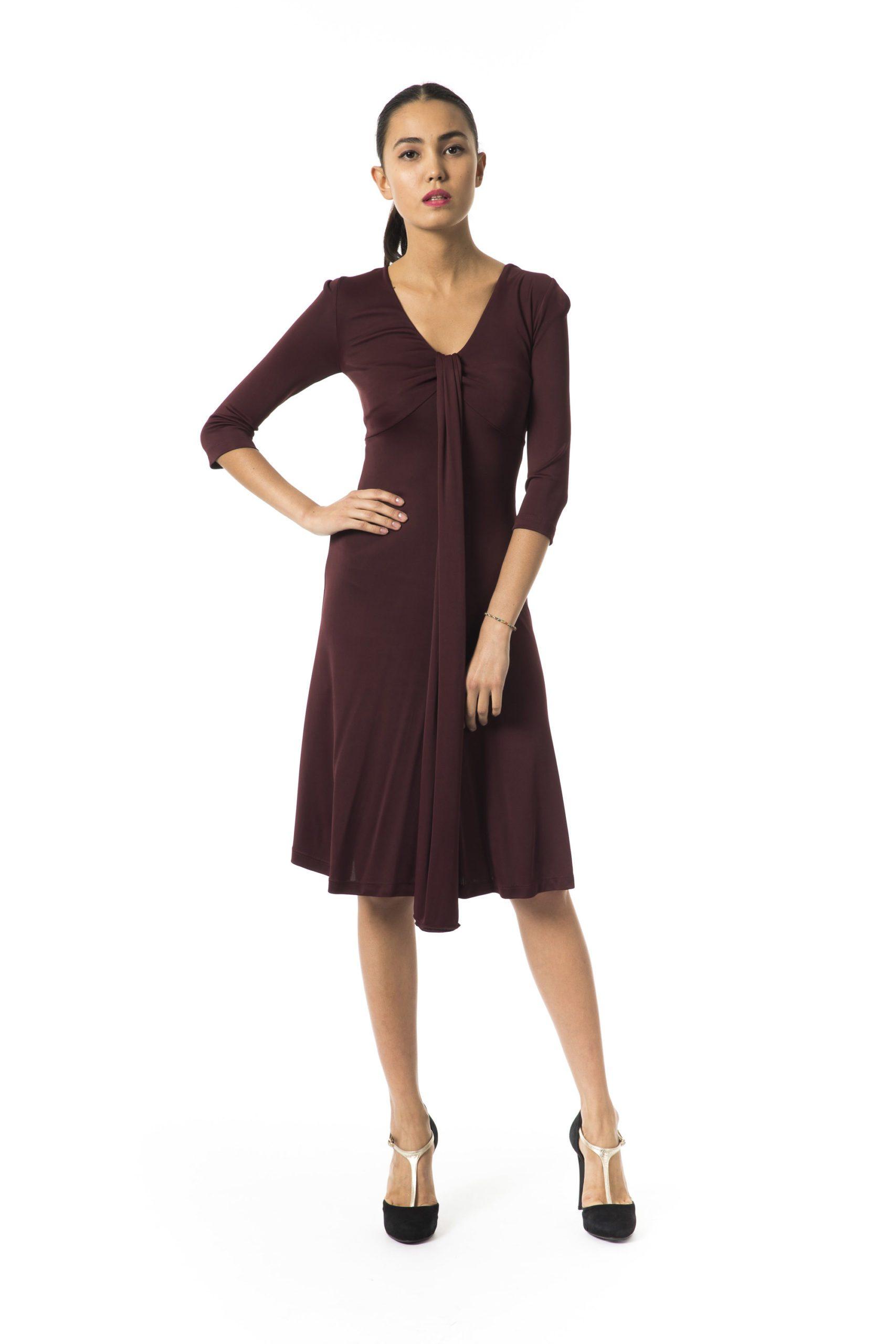BYBLOS Women's Bordeauxscuro Dress Burgundy BY997140 - IT42 | S
