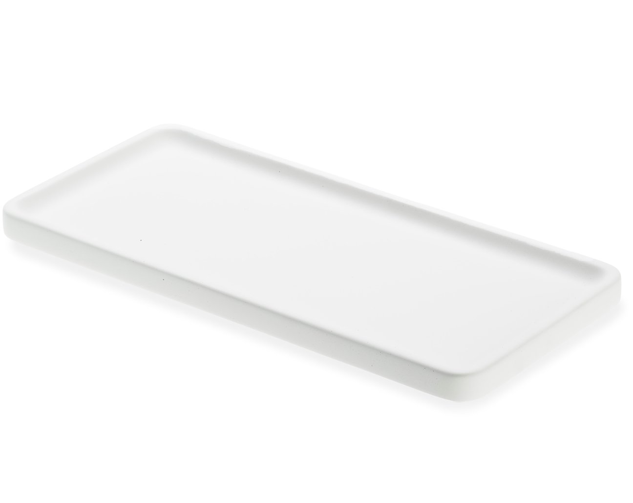 LIKEconcrete - Karin Tray Small 30 x 14 x 2 cm - White (93765)