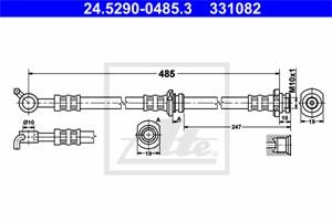 Jarruletku, Taka-akseli, oikea, NISSAN X-TRAIL, 46210-8H510