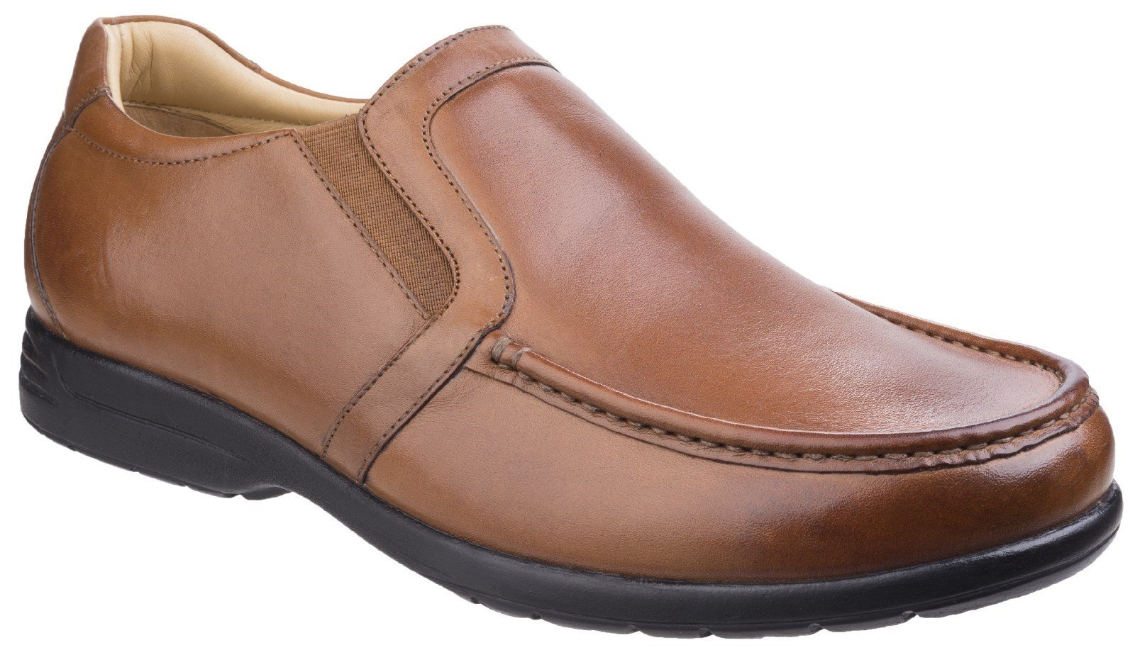 Fleet & Foster Men's Gordon Dual Fit Shoe Black 26319-43935 - Tan 6