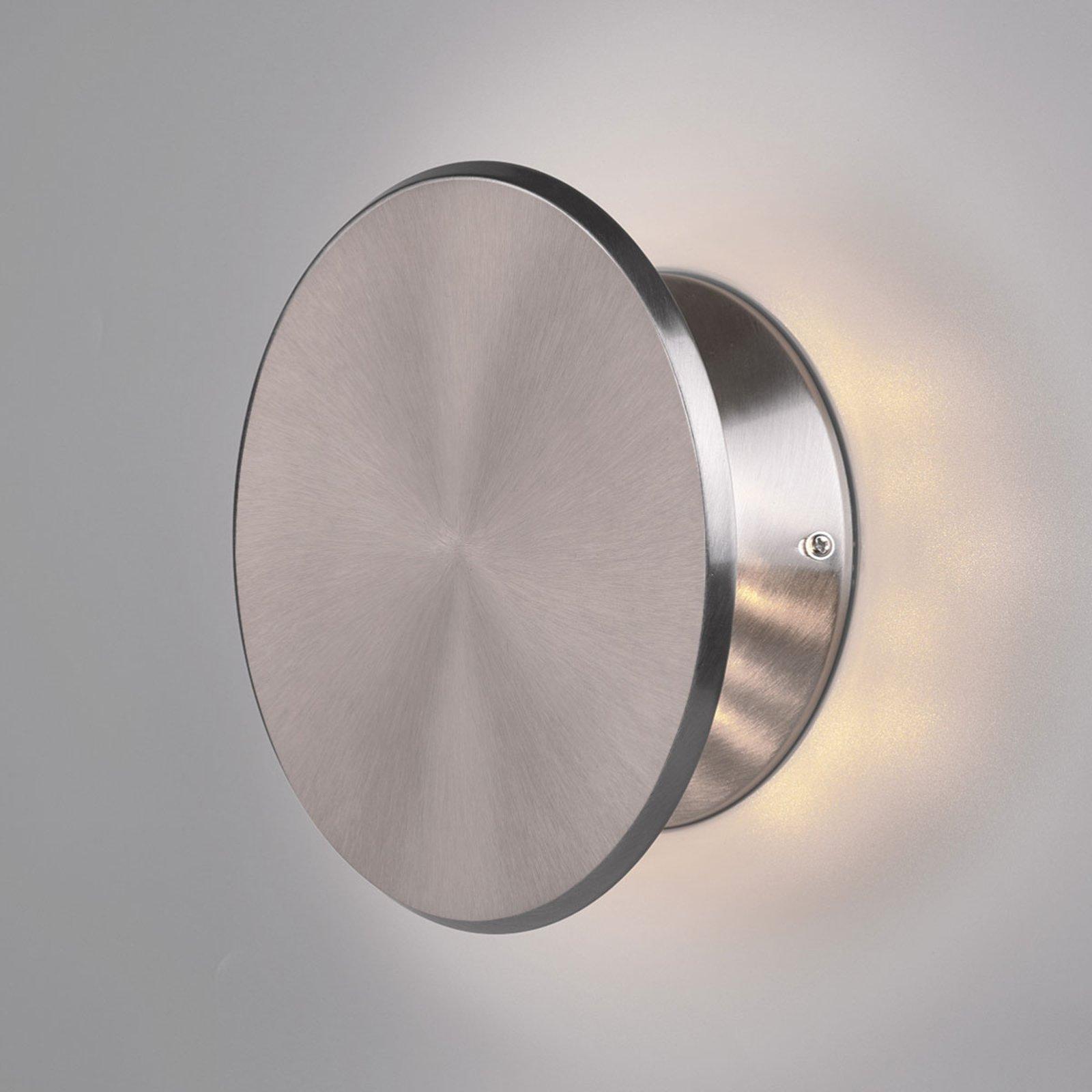 LED-vegglampe Gaston, svingbar, nikkel