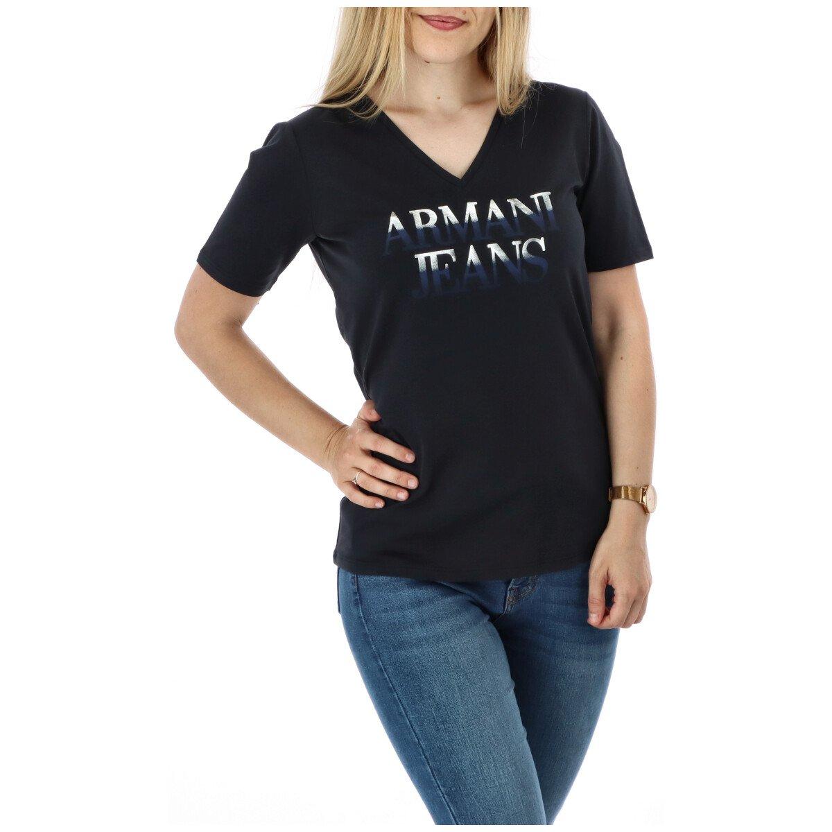 Armani Jeans Women's T-Shirt Various Colours 271608 - blue M