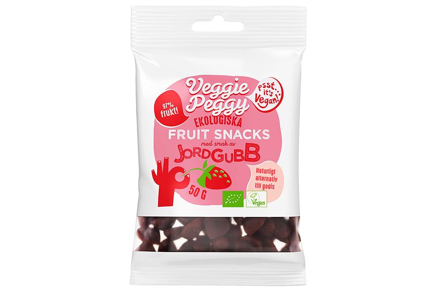Veggie Peggy Fruit Snacks - Jordgubb 50g