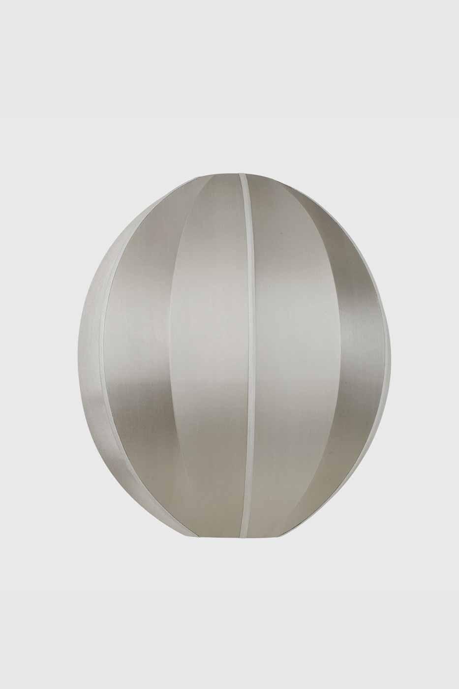 Taklampa silk Oval 44x54 cm grey
