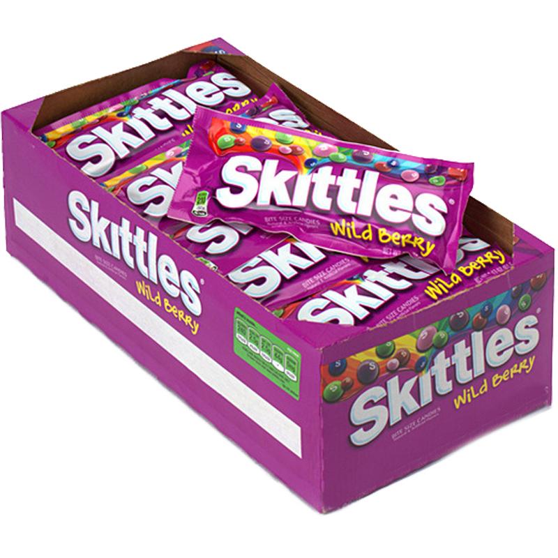 "Hel Låda Godis ""Skittles Wild Berry"" 14 x 38g - 78% rabatt"