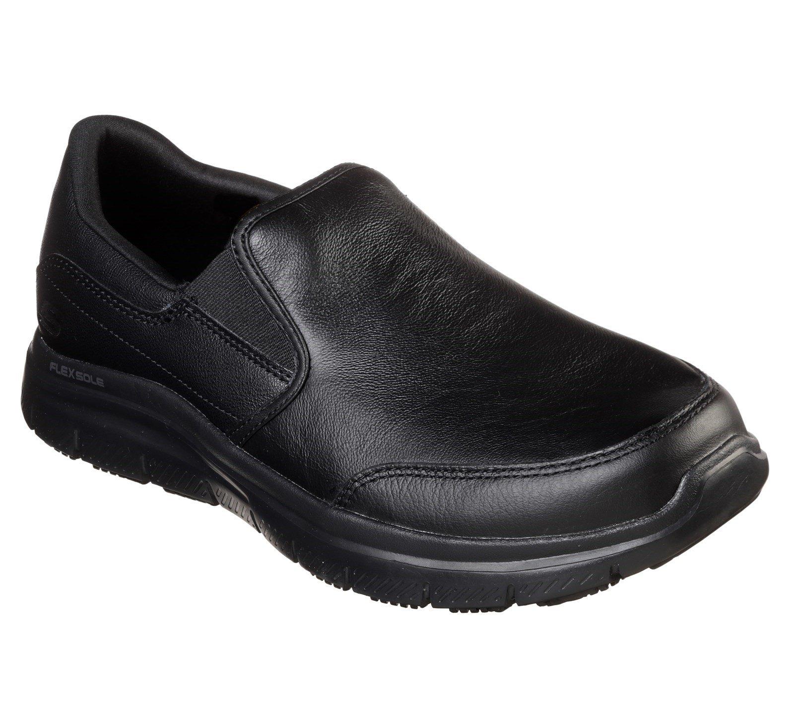 Skechers Unisex Bronwood Wide Slip Trainer Black 32950 - Black 6