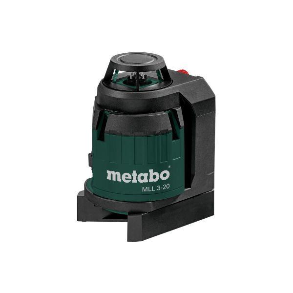 Metabo MLL 3-20 Krysslaser med 1,5 V batterier og koffert