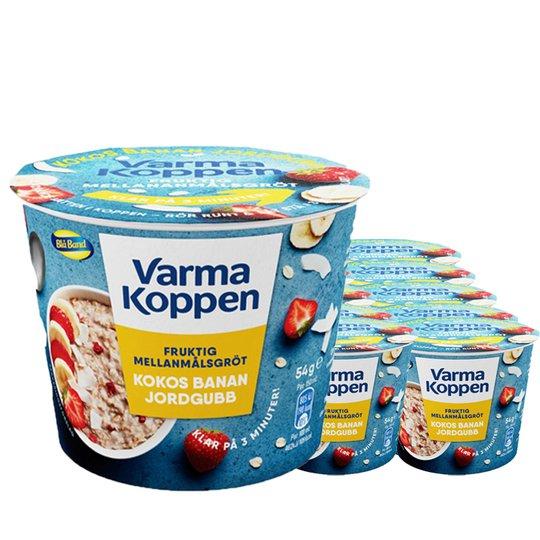 Mellanmålsgröt Kokos, Banan & Jordgubb 12-pack - 52% rabatt