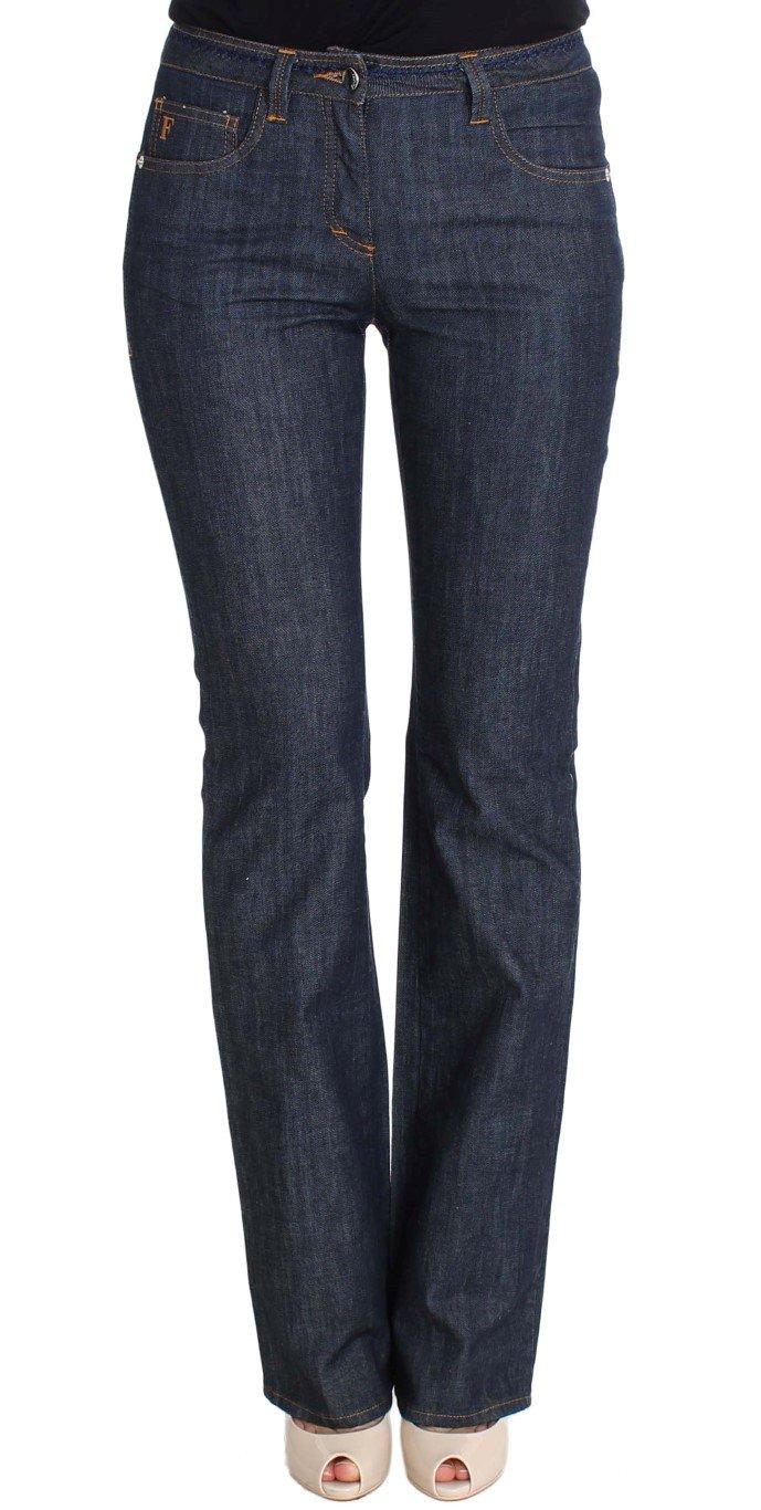 GF Ferre Women's Cotton Denim Flare Boot Cut Jeans Blue SIG30422 - W26