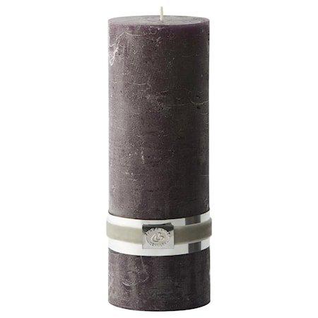 Blokklys Rustikk 20 cm - Mørk lilla