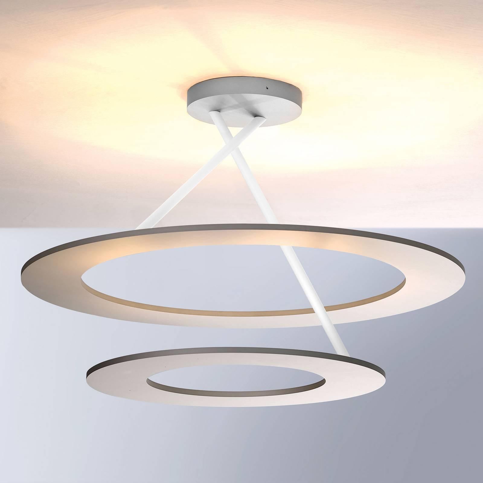 Bopp Stella LED-kattovalaisin 2 rengasta alumiini