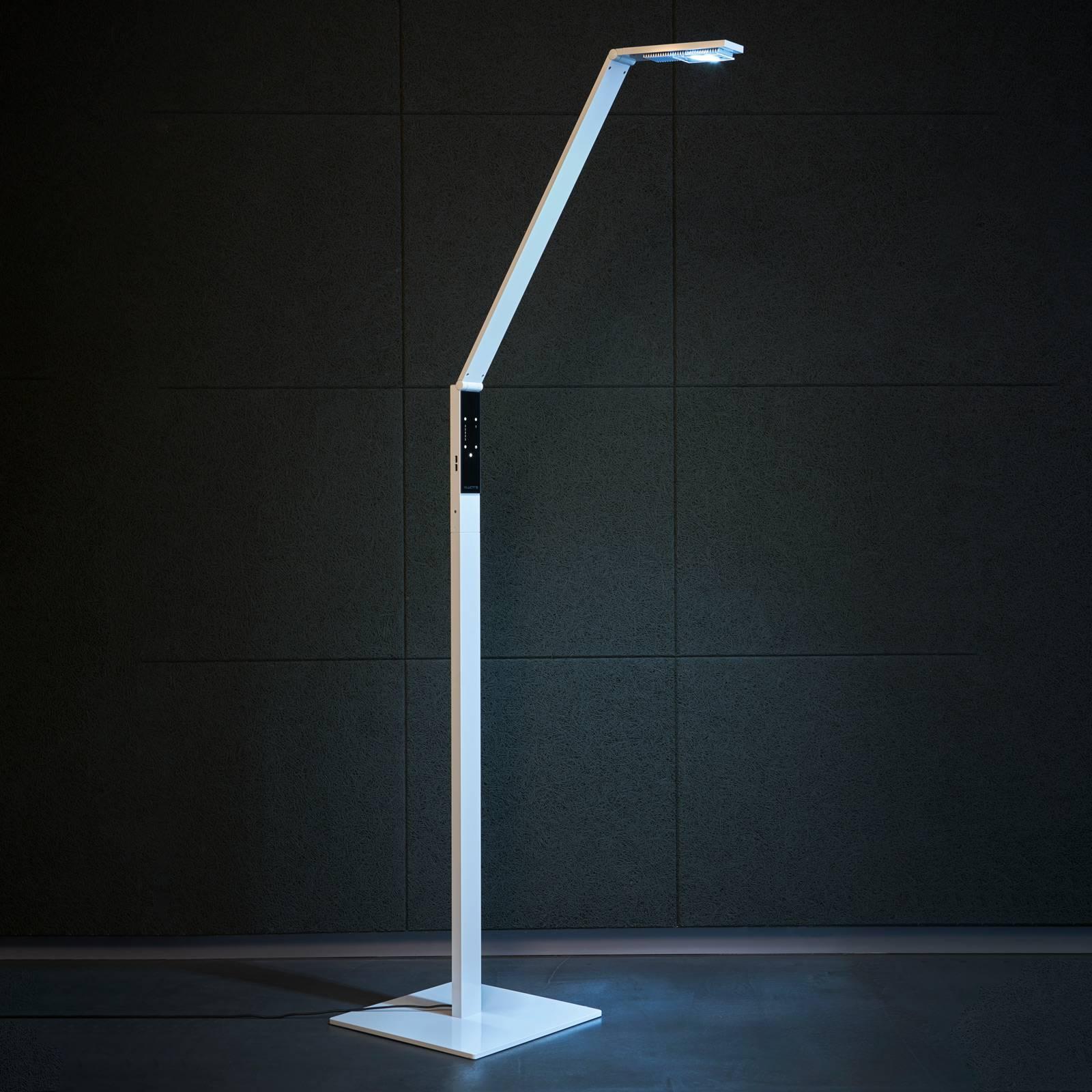 Luctra Floor Linear LED-lattiavalaisin valkoinen