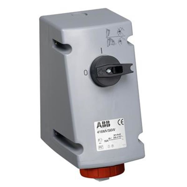 ABB 2CMA167842R1000 Seinäpistorasia IP67, 5-napainen, uppoasennus