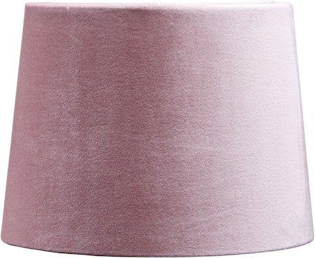 Lampeskjerm Sofia Fløyel Klar rosa