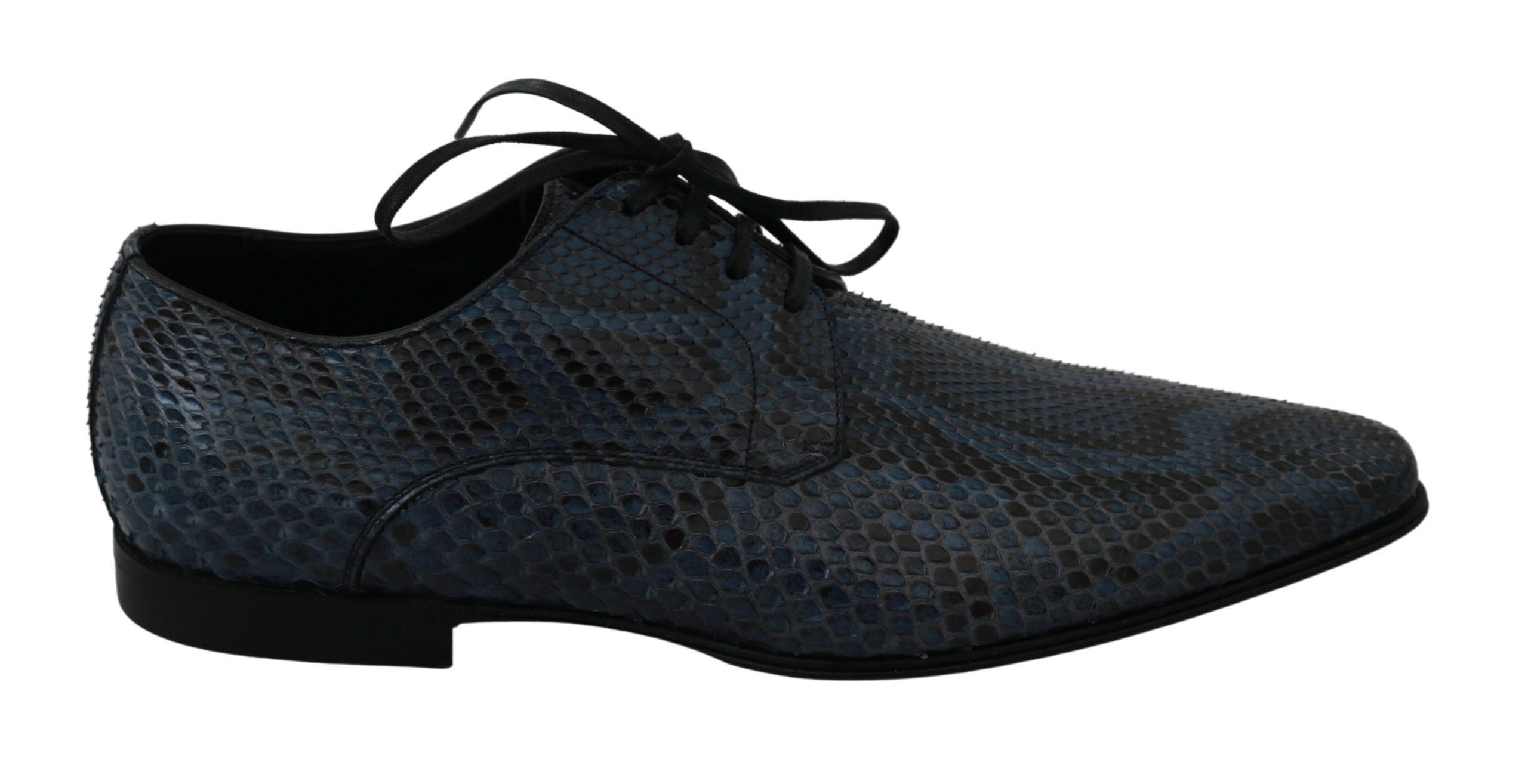 Dolce & Gabbana Men's Python Leather Dress Shoes Blue MV2673 - EU39/US6