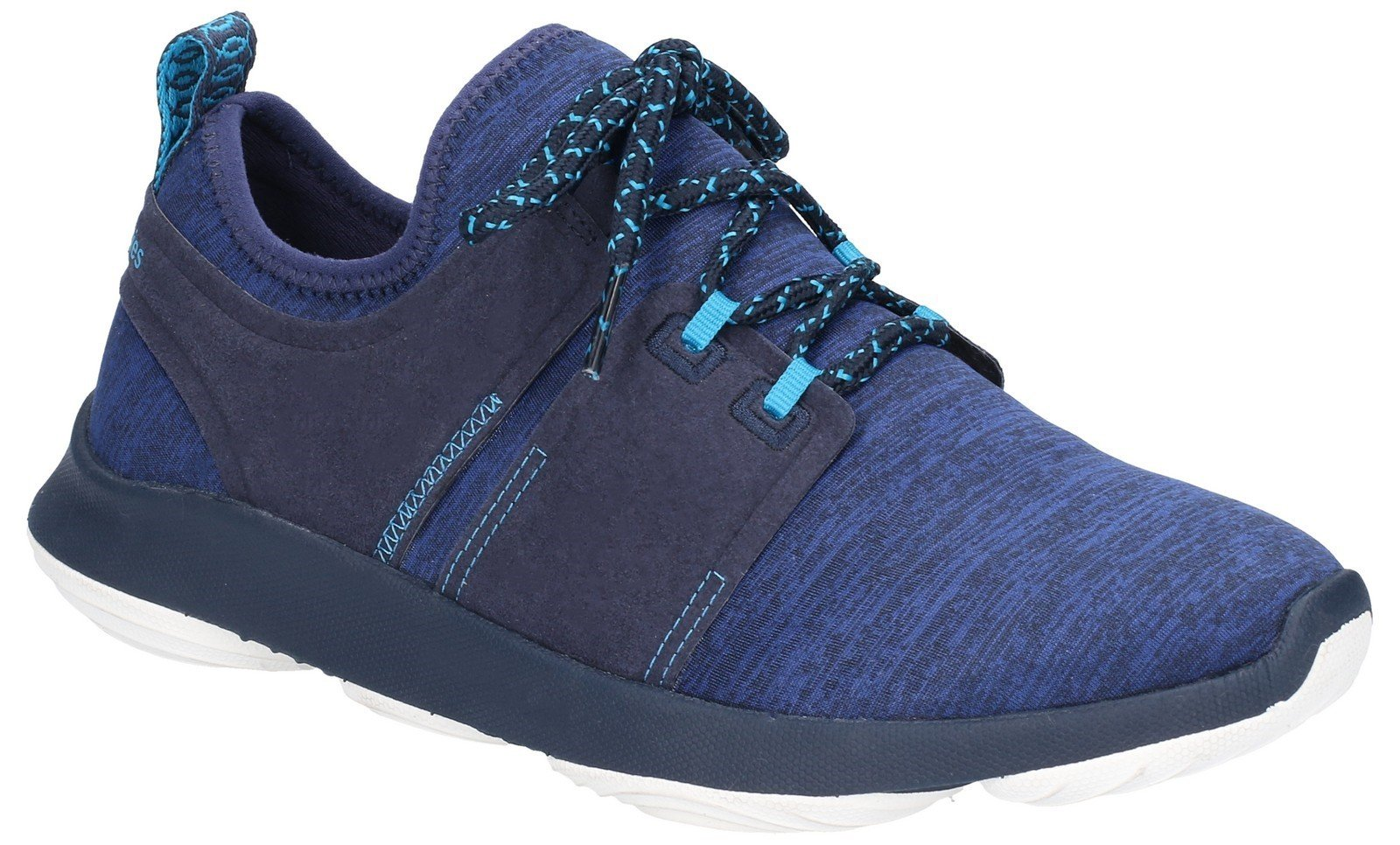 Hush Puppies Women's Geo BounceMax Lace Up Trainer Various Colours 28182 - Navy 3
