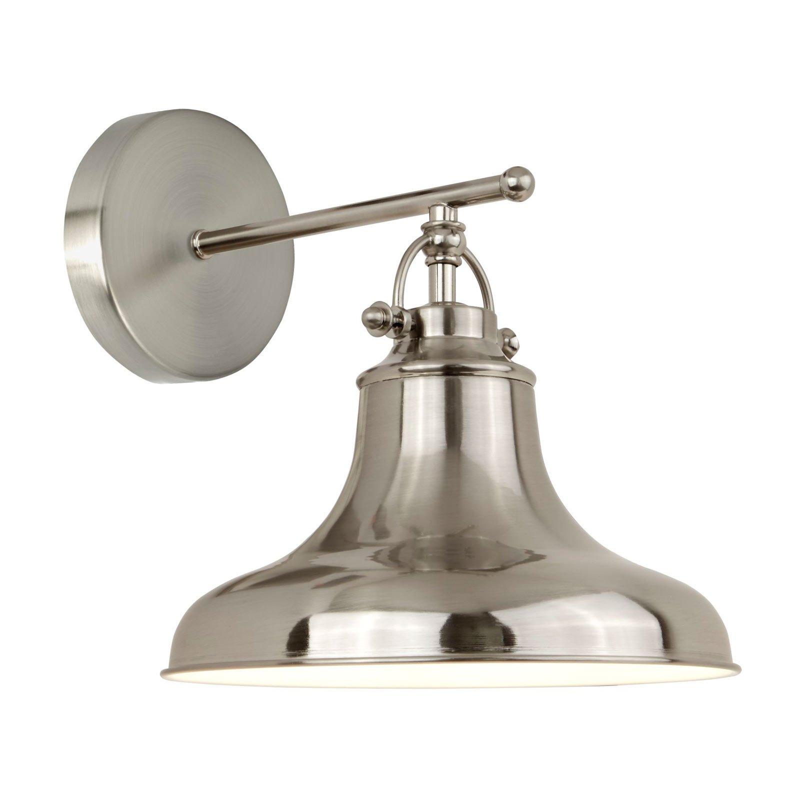 Vegglampe Dallas i industriell stil, sølv