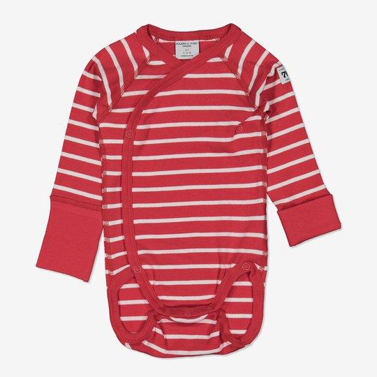 Omslagsbody stripet nyfødt rød