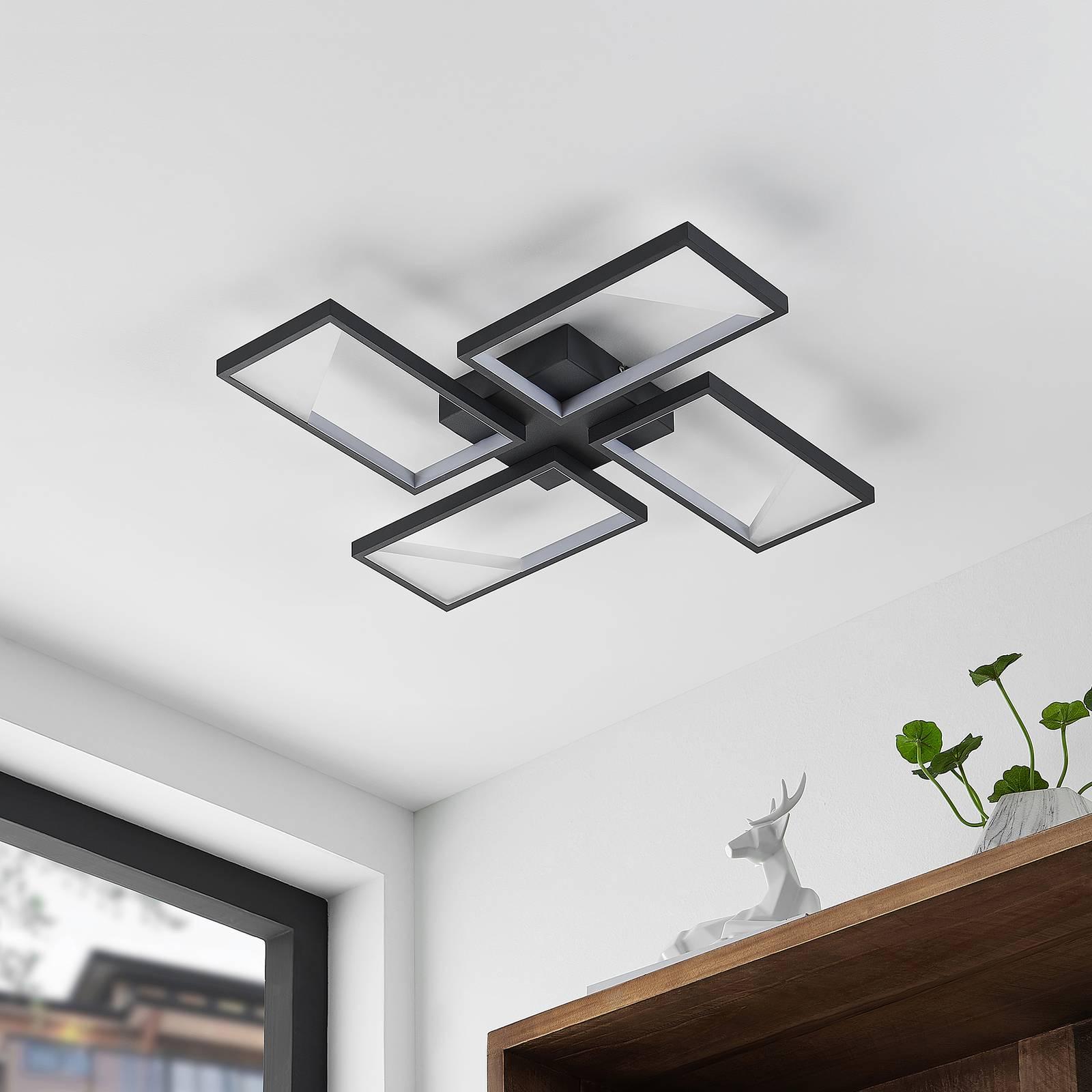 Lindby Fotini -LED-kattovalaisin, nelilamppuinen